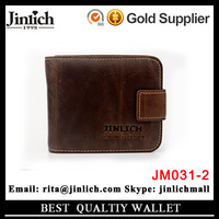 Top leather custom coin purse wallet latest design men purse with button