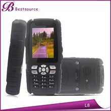 Best rugged GSM phone land rover L8 IP67 MTK6260A 2.4inch dual sim 0.3MP camera rugged phone