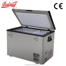 Potable AC DC 12V 24V mobile fridge & freezer,for camping use,car,RV or truck,with solar panel,connect to battery BD/C 60 ACDC