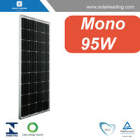 CEC listed 95w solar pv modules with grid tie micro inverters for solar electricity generating system