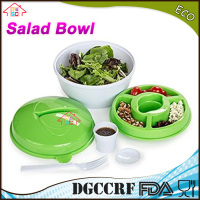 Salad Bowl to Go with Locking Lids - Great Salad to Go Kit or Container for Easy Storage and Stay Fresh