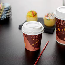 Espresso Disposable 4oz Paper Cups with lid