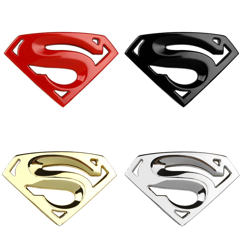 Superman emblem 3D Chrome sticker Metal Auto Emblem Car Truck Decal