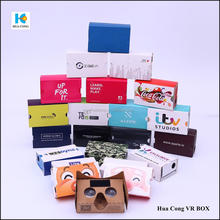 custom print and high quality cardboard 3d glasses for VR