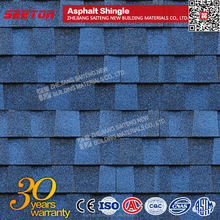 Latest Building Materials Blue Asphalt Roof Tiles For Sale