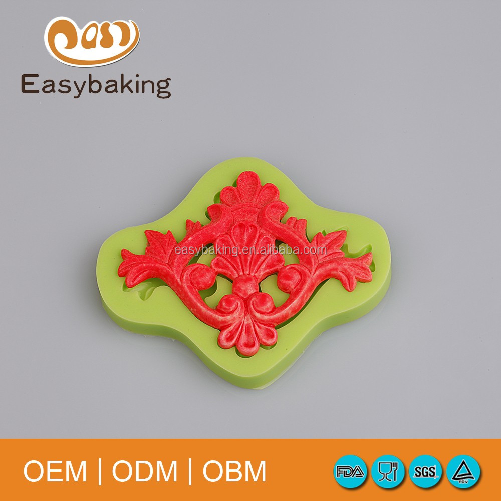 Cake Border Decorating Tools Europe Baroque Silicone Molds