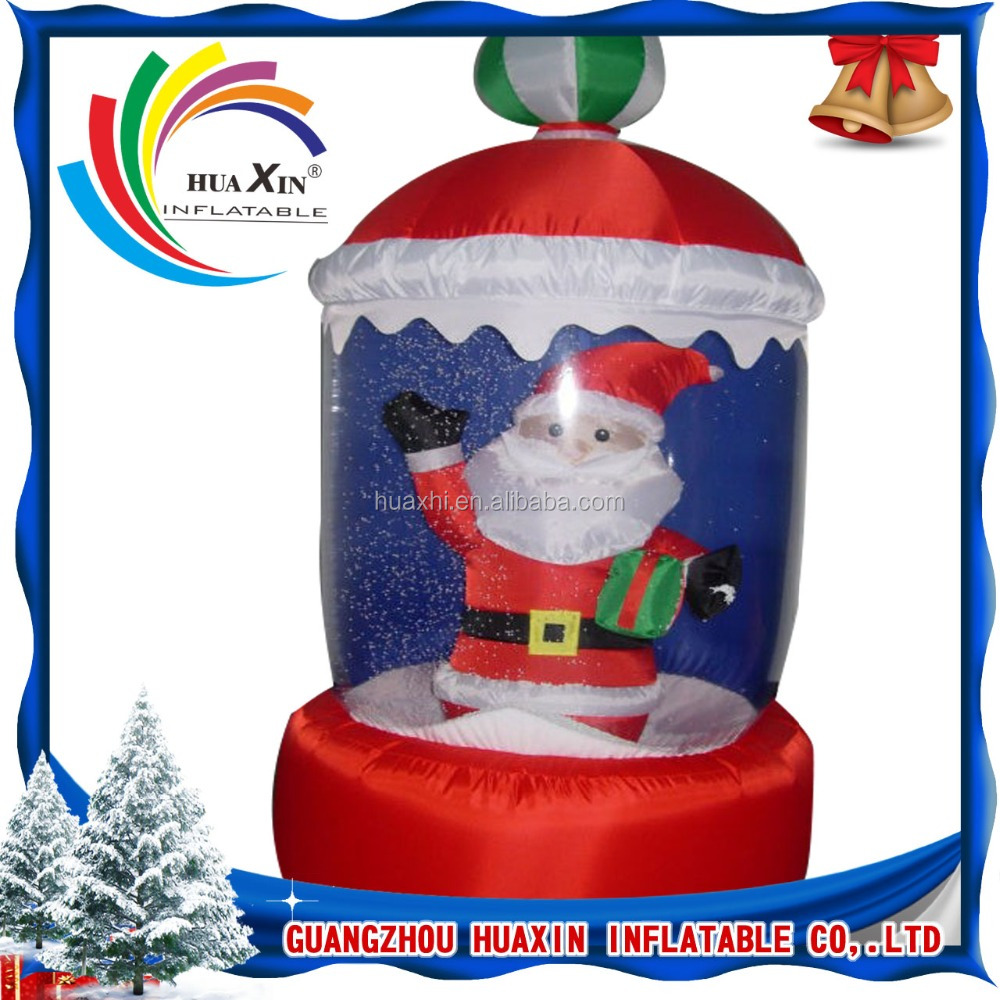 inflatable christmas decoration balls / christmas inflatable snow globe