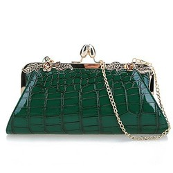 China wholesale crocodile ladies clutch bags party evening bag EB438