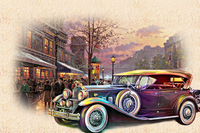 Slight color canvas print painting designs of car 68057