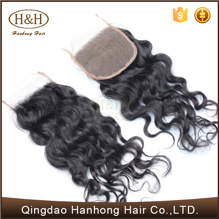 Brazilian Virgin Hair Natural Wave Free Part Human Hair Lace Closure Hair <strong>Weave</strong>