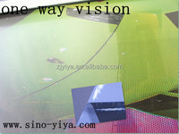 perforated waterproof one way vision/see through window vinyl sticker