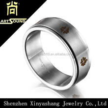 Wholesale engraved mens blank stainless steel ring