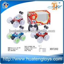2014 best selling Remote control stunt tip lorry toys 5CH toys with music light H97202