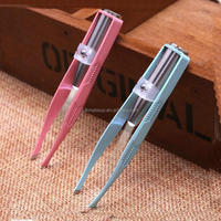 Fashion Makup Tools New Product LED stainless steel Tweezers with light