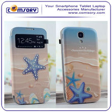 bling stone leather case for SAMSUNG Galaxy S4 I9500