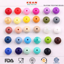Factory Direct Sales BPA Free Silicone Beads for Baby Wholesales Soft Food Grade Teething Silicone Beads