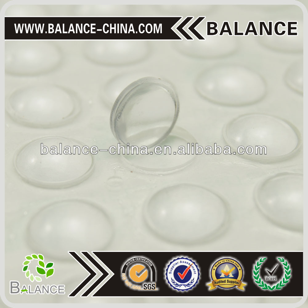 Clear sticky adhesive silicone rubber pad