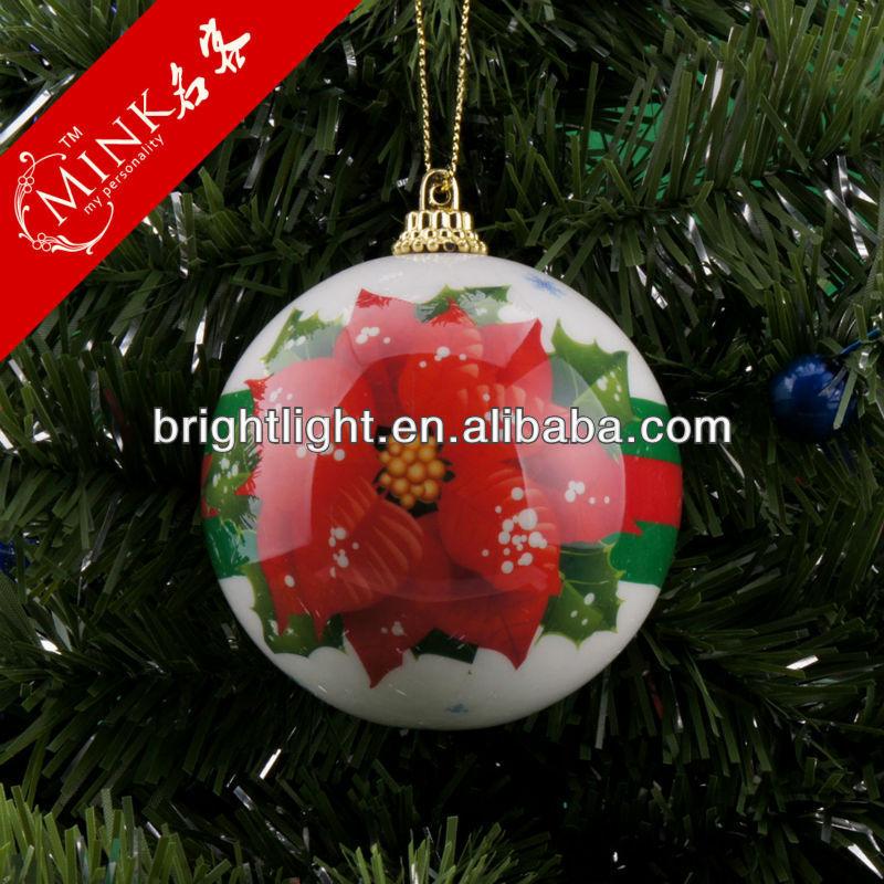 Mink large plastic christmas balls ceramic ball
