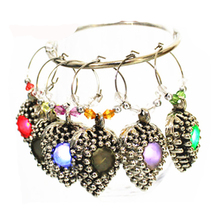 promotion set for party LED metal light bulb charms