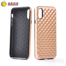 golden case for iphone x cross phone case with crystal gold cover