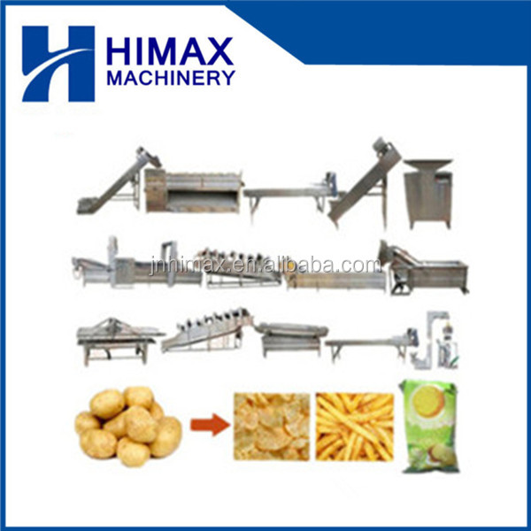 Potato Chips Production Machine/Frozen French Fries Plant/Frozen French Fries Processing Machinery