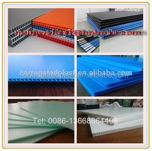 PP corrugated plastic sheet for house decoration flooring and roofing