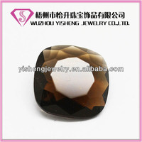 Amber cushion loose synthetic color glass stone wholesale gemstone for jewelry