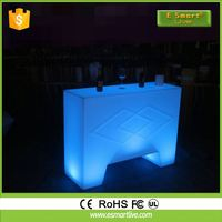 modern cocktail LED illuminated led bar counter Home Modern Bar Counter Plastic Bar Table Furniture