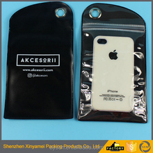 black pvc waterproof phone pouch,mobile phone ziplock plastic packaging bags pvc materials