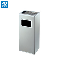 ground ash barrel stainless steel dustbin rubbish bin