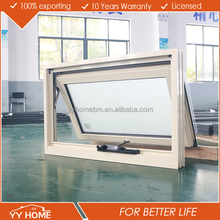 Aluminum double glazed tempered chain winder awning window comply with Australian Standard AS2047&AS2208