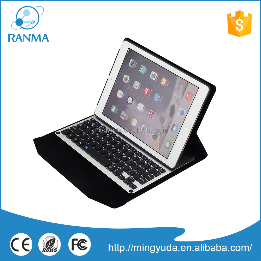 2016 New fashion wireless bluetooth keyboard aluminum case for ipad air