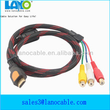 de alta calidad 3 rca hembra a mini hdmi cable de audio
