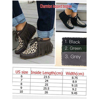 Wholesale Leather Women Leopard Tassel Boot