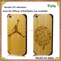 Laser Engraving sport person Wooden cover case For iphone 5S, Wooden phone case 4 Corners PC Back Cover For iphone 6 plus cell
