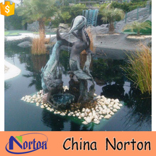 bronze mermaid with shell fountain dancing manufacturer NTBF-M124X
