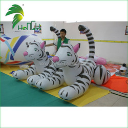 Hongyi manufacturers 2015 0.4mm pvc PVC White Inflatable Tigers