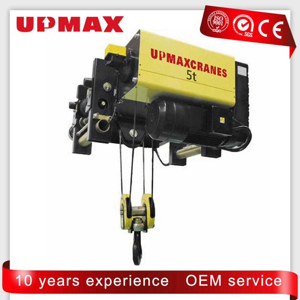 5 ton10 ton Friendly price europe style low headroom type wire rope electric hoist for single beam crane