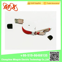 Phone accessories white or red double usb cable charging line for iphone android