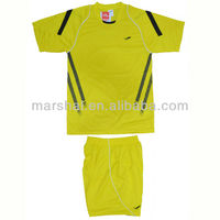 Plain soccer jersey new style white / yellow/red /blue stripes
