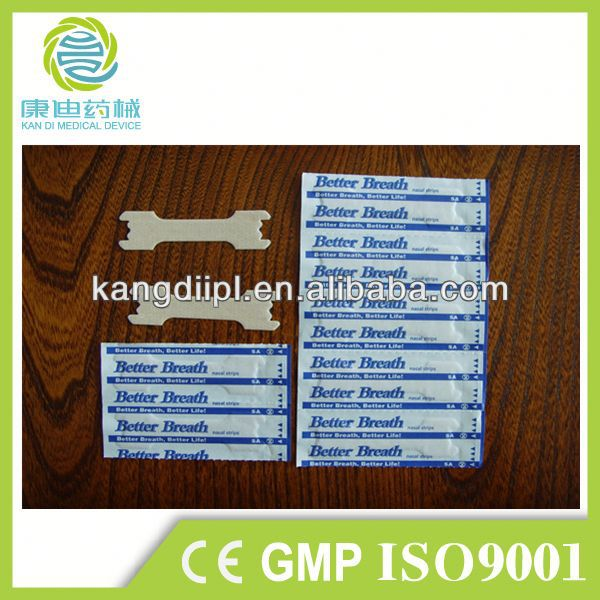 transparent PE disposable drug free nasal strips anti snore nasal strip in health & medical