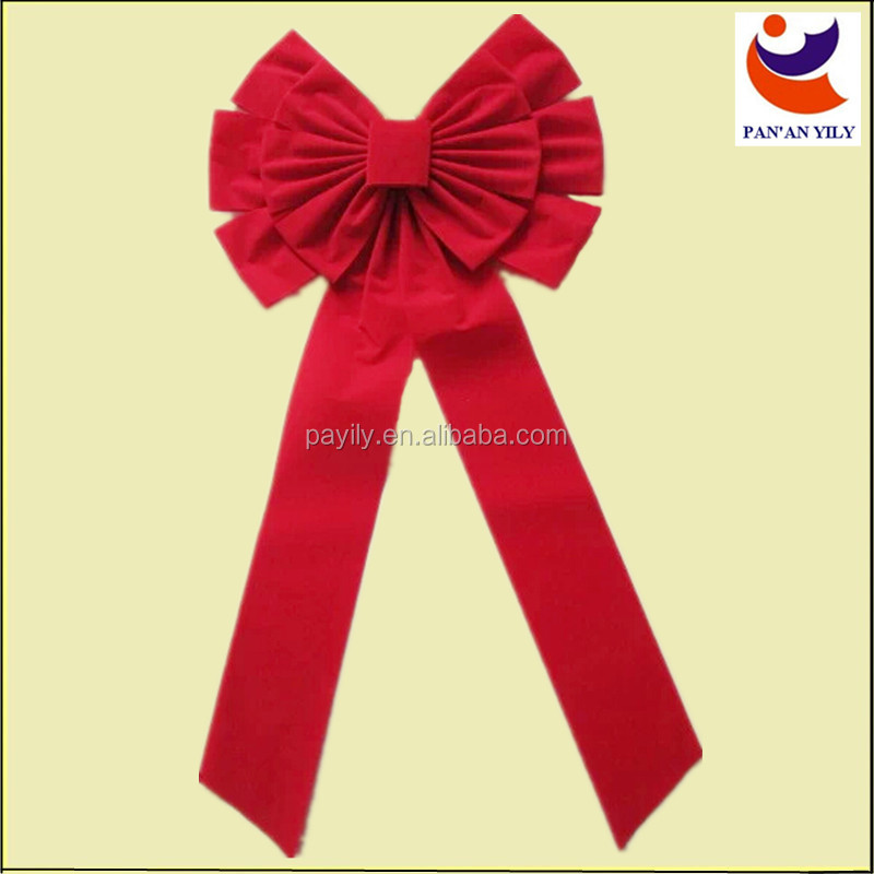 2014 Disney authorized factory sales red color christmas bow christmas velvet bows