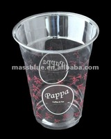 Disposable Custom Logo PET Clear Juice Plastic Cups