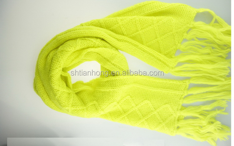 China manufacture new coming modern custom knitted scarf shawl