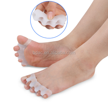 Five Toe Separator Soft Gel Toe Straightener For Pain Relief