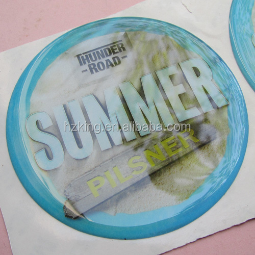 3M super adhesive custom printing epoxy 3d sticker for power coated surface