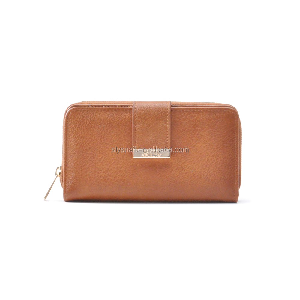 custom women gender pu leather ladies clutch purse and long wallet