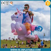 fanny inflatable Horse party costumes with hat for animal and party