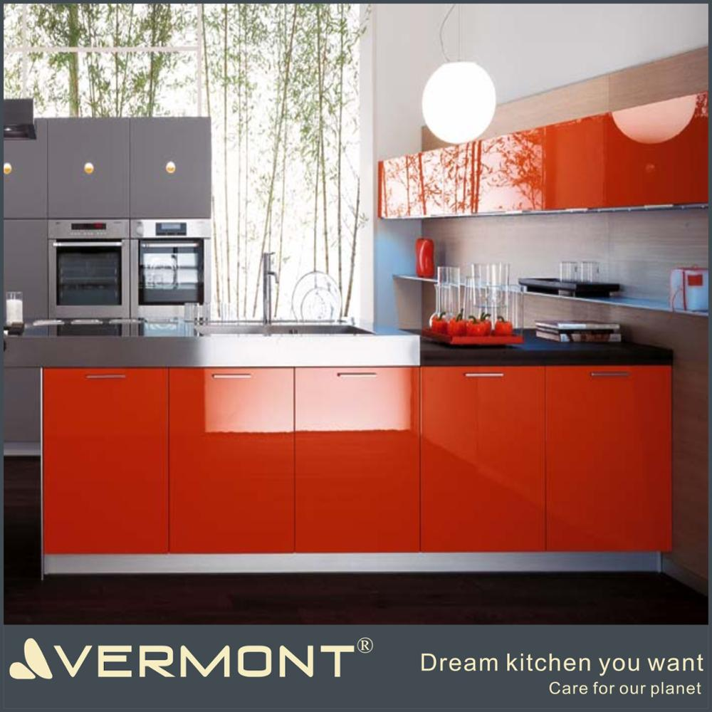 Different Color Combination High Gloss Modern Kitchen Cabinet White Red kitchen Cabinets