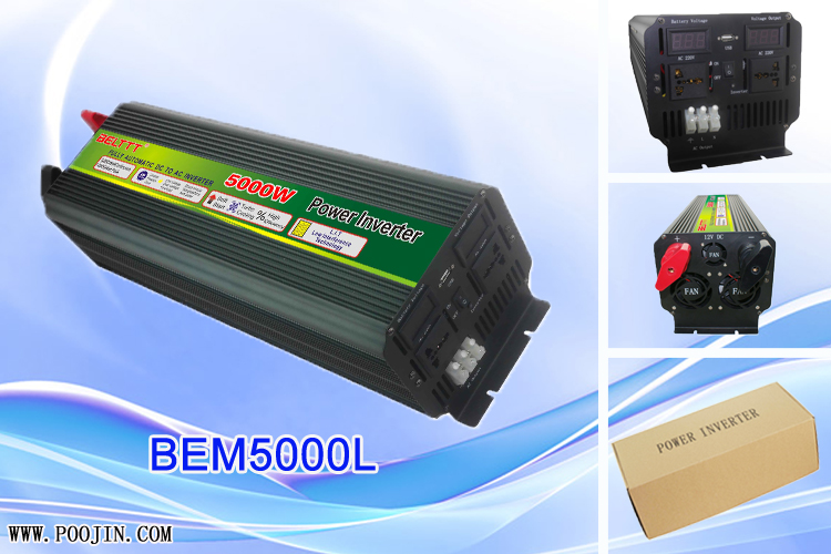 China Intelligent 5000W Large Power DC to AC Power Inverter with auto protection